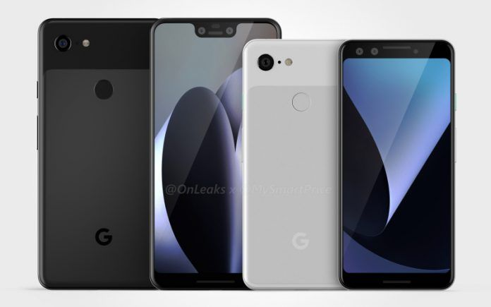 pixel 3 and pixel 3 xl renders