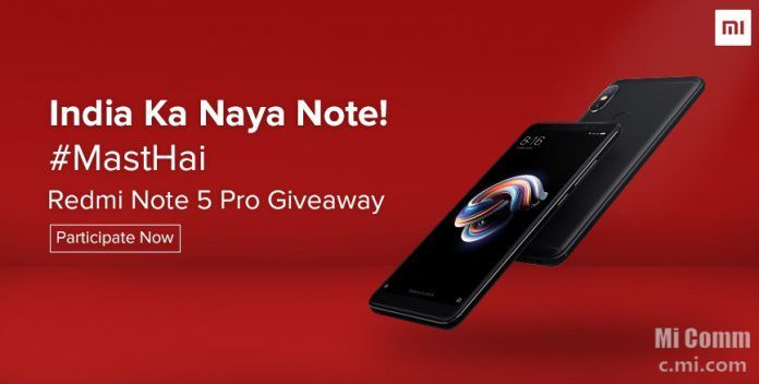 Redmi Note 5 Pro Giveaway Contest: Participate to Win The