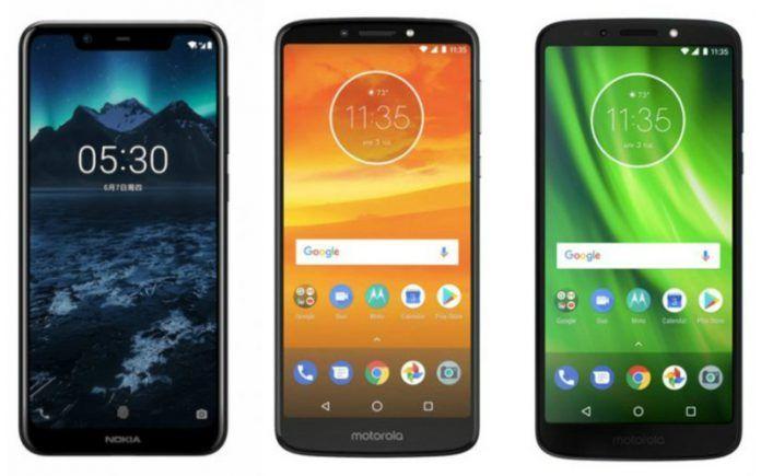 Nokia X5 vs Moto G6 Play vs Moto E5 Plus