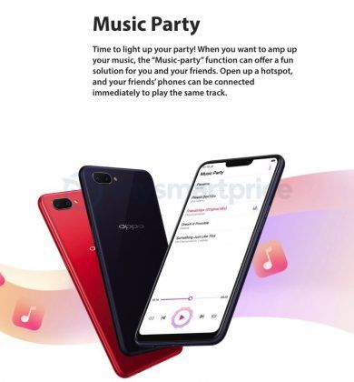 OPPO A3s Music Party Feature