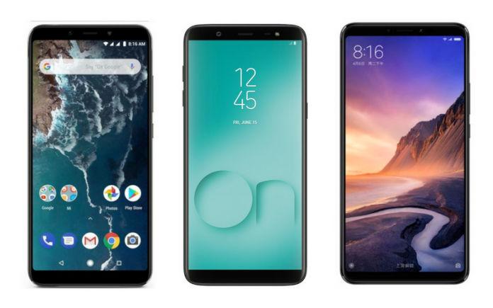 Mi A2, Samsung Galaxy On8, Xiaomi Mi Max 3 Compared for