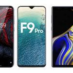Nokia 6.1 Plus Oppo F9 Pro Samsung Galaxy Note 9
