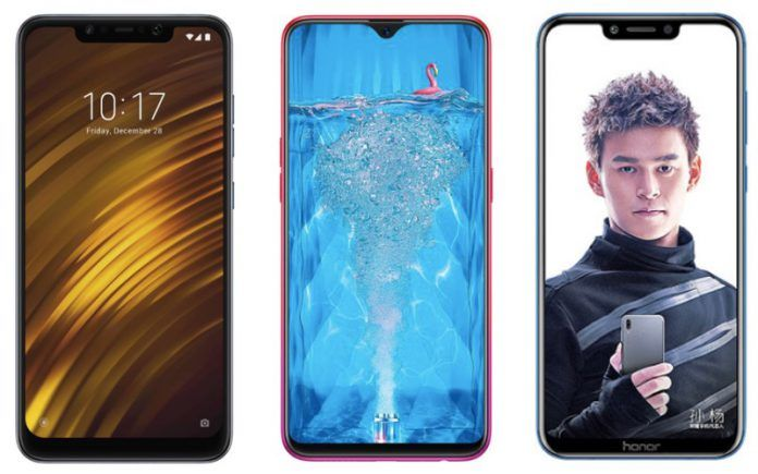 POCO F1 vs Oppo F9 Pro vs Honor Play: Price in India
