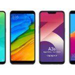 Realme 2 vs Xiaomi Redmi Note 5 vs Oppo A3s vs Honor 7C