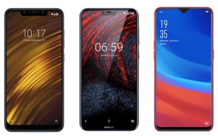Xiaomi POCO F1, Nokia 6 1 Plus, Oppo F9 Pro: Three Latest