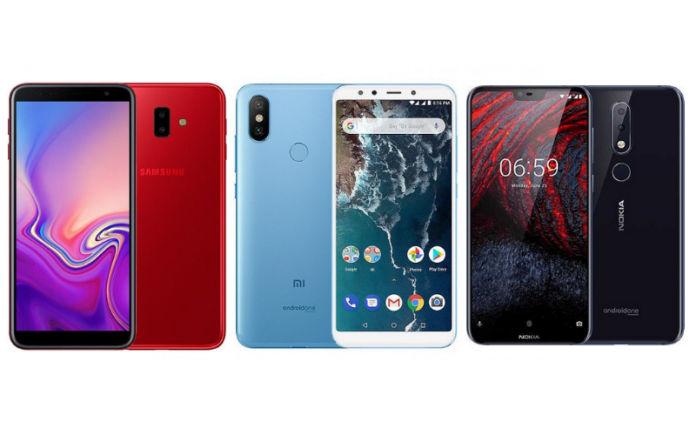 Samsung Galaxy J6 Plus vs Xiaomi Mi A2 vs Nokia 6 1 Plus: Price in