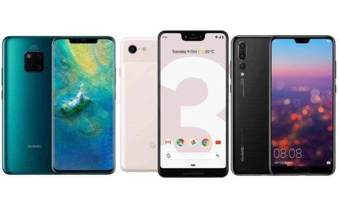 Huawei Mate 20 Pro vs Google Pixel 3 XL vs Huawei P20 Pro