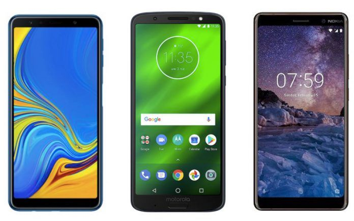 Samsung Galaxy A7 vs Moto G6 Plus vs Nokia 7 Plus