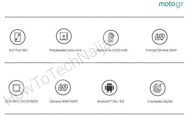 Moto G7 Leaked Specs Sheet