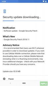 Nokia 6.1 software update