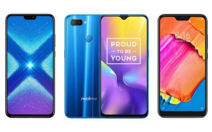 Realme U1 vs Xiaomi Redmi Note 6 Pro vs Honor 8X