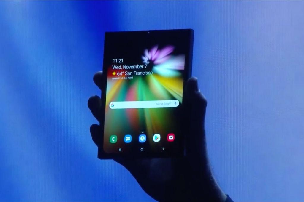 Samsung Foldable Screen Smartphone Prototype