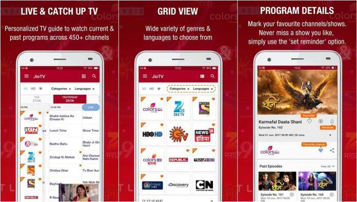 JioTV App Surpasses Vodafone Play and Airtel TV by Offering 621 Free