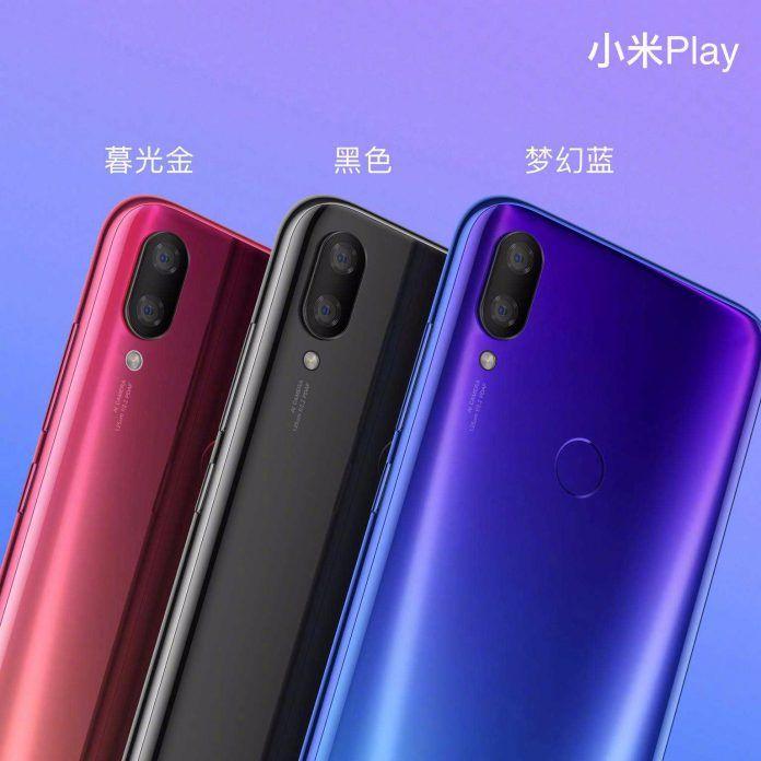 Xiaomi Mi Play Fantasy BlueTwilight Gold Black Color options