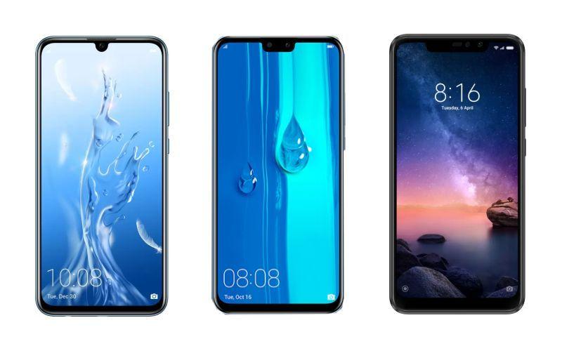 Honor 10 Lite vs Huawei Y9 2019 vs Xiaomi Redmi Note 6 Pro: Price in