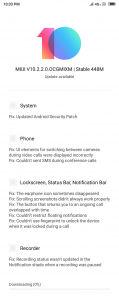Redmi 6 MIUI 10.2.2.0.OCGMIXM Update Changelog