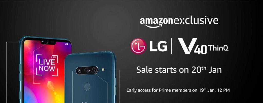 LG V40 ThinQ Listed on Amazon India