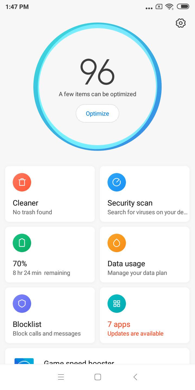 Screenshot Xiaomi Redmi 6 miui software 04