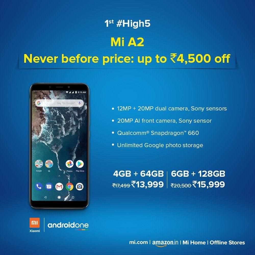 Xiaomi Mi A2 Price Cut