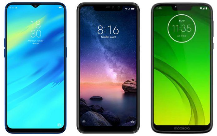 Motorola Moto G7 Power vs Xiaomi Redmi Note 6 Pro vs Realme 2 Pro