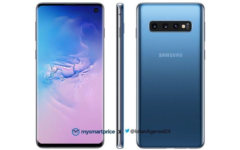 Samsung Galaxy S10 Blue Press Render