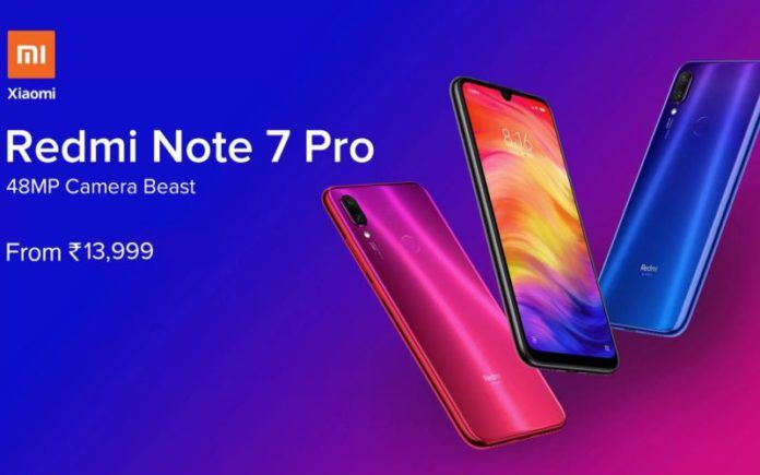 e5a01105879 Redmi Note 7 Pro and Note 7 Sales to be Held Today Via Flipkart and Mi.Com   Price