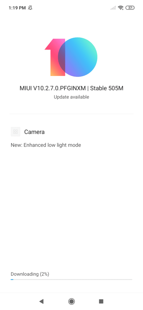 Redmi Note 7 MIUI Update Night Camera Mode 02