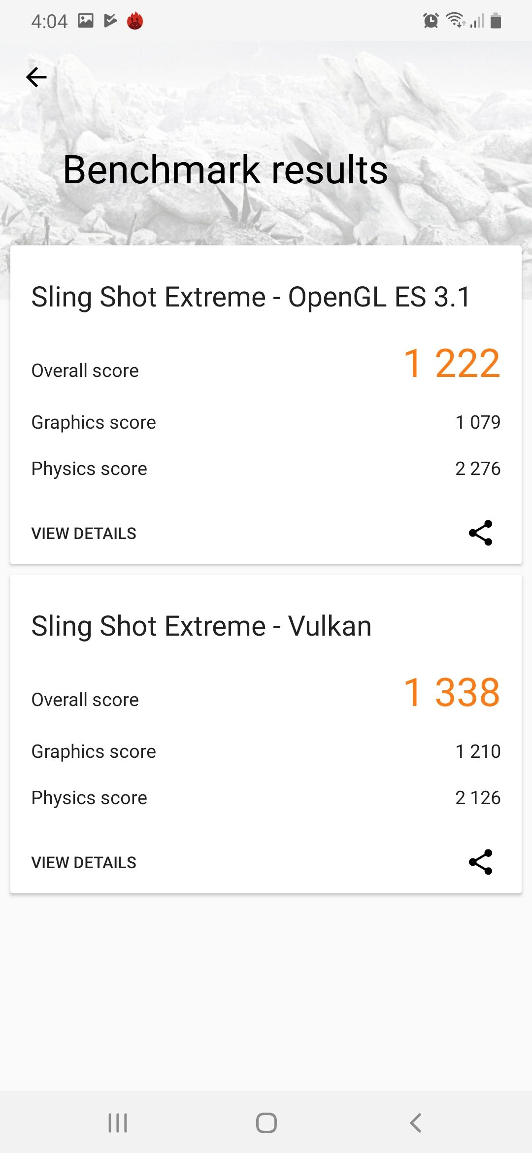 Samsung Galaxy A50 Benchmark Screenshot 03