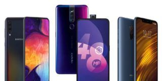 Samsung Galaxy A50 vs Xiaomi POCO F1 vs OPPO F11 Pro