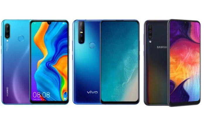 Huawei P30 Lite vs Vivo V15 vs Samsung Galaxy A50