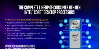 Intel 9th Gen Core Desktop CPU Lineup