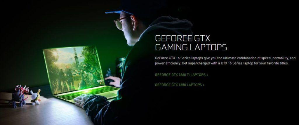 Nvidia GeForce GTX 1650 1660Ti Gaming Laptops