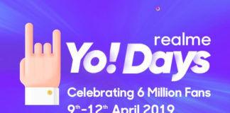 Realme Yo! Days 2019 (from 9th April to 12th April)