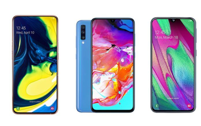 Samsung Galaxy A80 vs Galaxy A70 vs Galaxy A40
