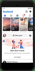 Facebook Meet New Friends Feed