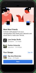 Facebook Meet New Friends Unlock Communities