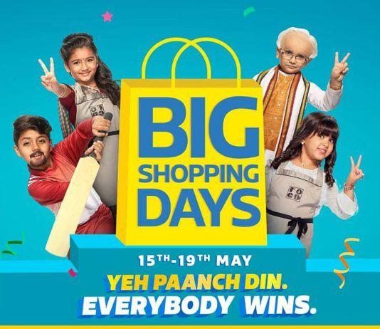 Flipkart Big Shopping Days Sale May 15 2019