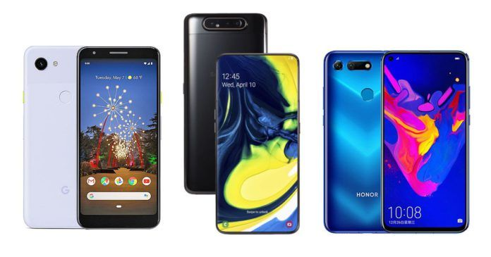 Google Pixel 3a XL vs Galaxy A80 vs Honor View 20: Price in