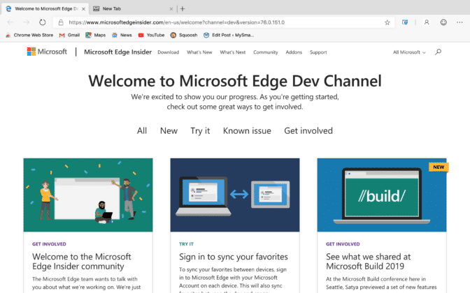 Chrome Central: Microsoft BUILD 2019: Edge Web Browser For