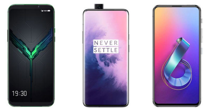 Xiaomi Black Shark 2 vs OnePlus 7 Pro vs ASUS Zenfone 6