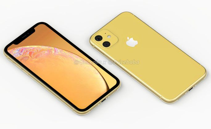 iPhone XR 2019 Leaked Render Yellow
