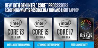 10th Gen Intel Core i3, i5, i7 Ice Lake CPUs