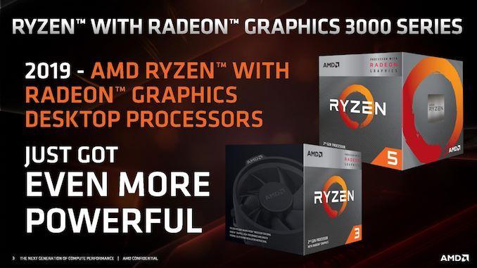 AMD Ryzen 3000 Series APUs - Ryzen 3 3200G & Ryzen 5 3400G