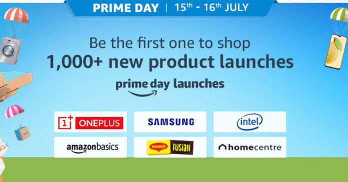 Amazon India Prime Day (More than 1000 product launches poster)