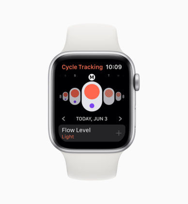 Apple watchOS 6 Cycle Tracking App