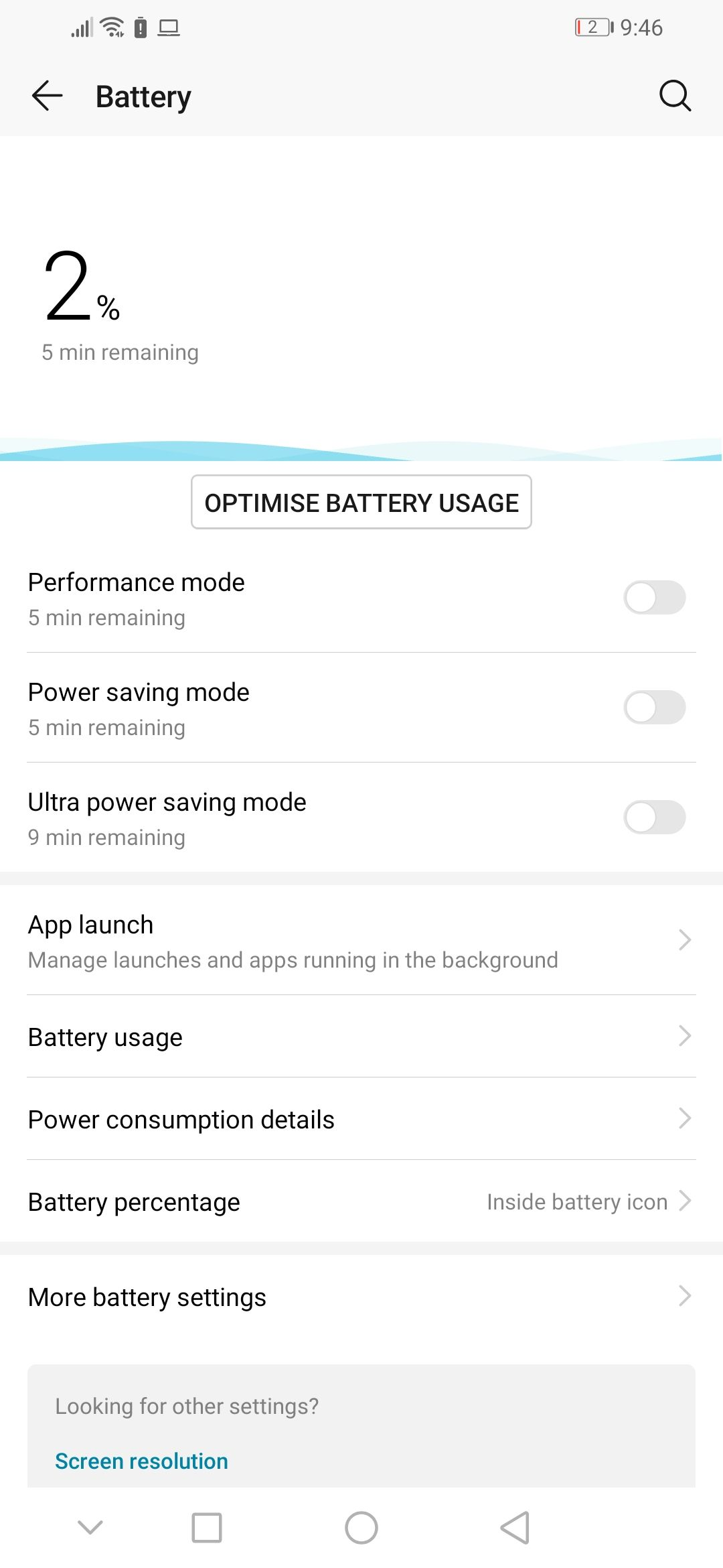 Honor 20i Battery Life Screenshot 01