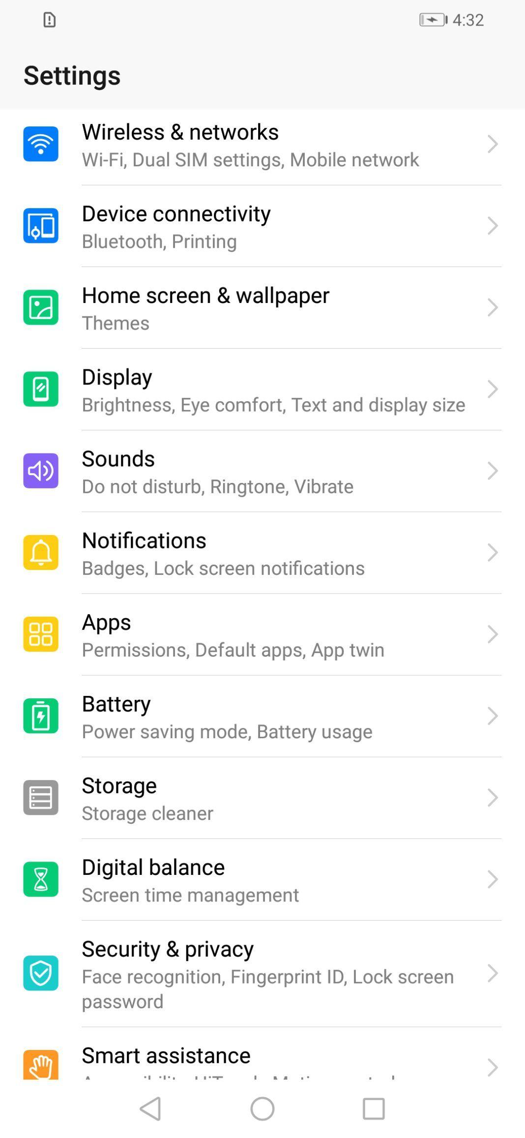 Honor 20i Software Screenshot