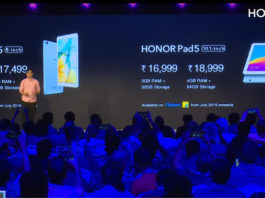 Honor Pad5 8-inch and Honor Pad5 10.1-inch price in India