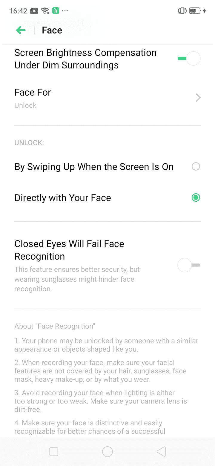 Realme C2 Software Screenshot