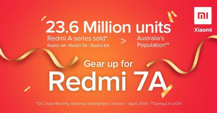Redmi 7A India Launch Teaser Poster